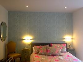 Mood lighting in refurbished flat in Virginia Woolf's home