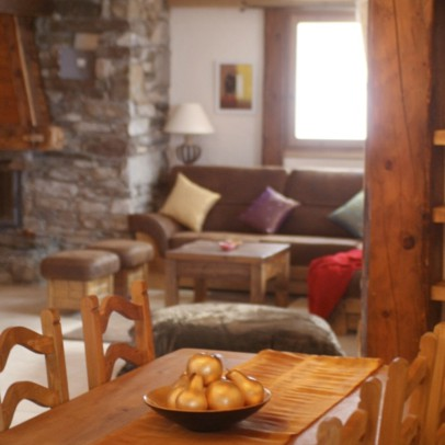 French Alps - luxury dining/living rooms