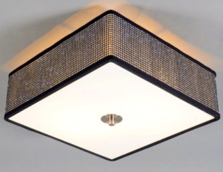 large square luxury bedroom cileing light